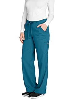 6a51e859bf9 Barco Grey's Anatomy Women's 4245 Junior Fit 4-Pocket Elastic Back Scrub  Pants