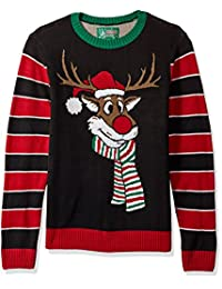 Ugly Christmas Sweater Mens Reindeer Poopermints Sweater