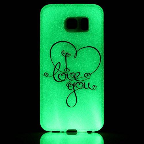 Samsung Galaxy S4 MiniCaso Funda,[Con Gratis Negro Kickstand] Keyye [Creativo luminoso duradero] Silicone Funda,Acuarela Imprenta Patrón [Anti-polvo] Exfoliante suave Transparente Delgado Gel TPU Piel Amor Tú