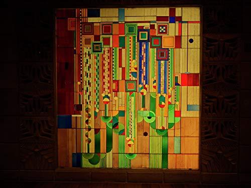 24 x 36 Giclee Print ofStained-Glass Window at The Historic Arizona Biltmore Resort in Phoenix, Arizona 2018 by Carol Highsmith 87z