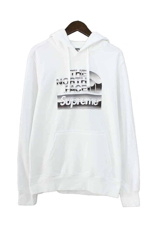 (シュプリーム) SUPREME ×ノースフェイス/THE NORTH FACE 【18SS】【Metallic Logo Hooded Sweatshirt】メタリックロゴプルオーバーパーカー(S/ホワイト) 中古 B07F1LFC67  -
