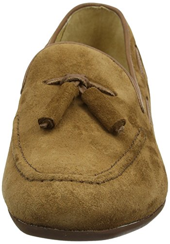 Mens H Door Hudson Pierre Suede Slip Smart Office Casual Schoenen Bruin