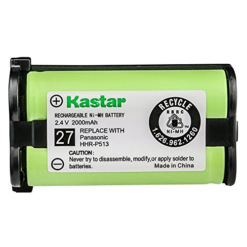 Kastar HHR-P513 Battery 1-Pack, Type 27 Replacement for Panasonic HHR-P513 HHR-P513A HHR-P513A1B HRR-P513A1B KX-TG2216 KX-TG2216FV KX-TG2216RV KX-TG2216SV KX-TG2224 KX-TG2224W KX-TG2226 KX-TG2226BV