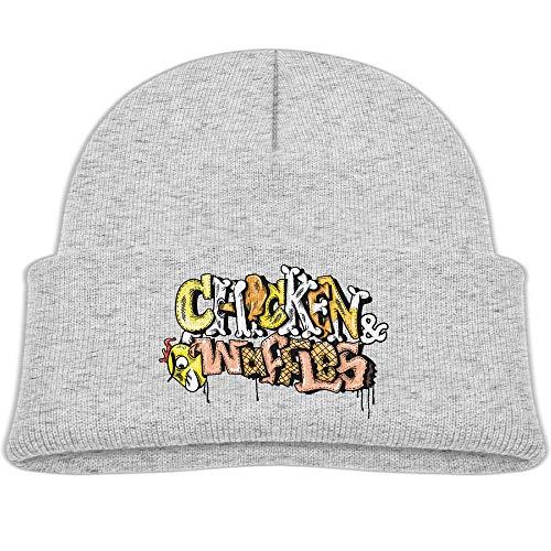 Qiop nee Beanie Hats Wool Skull Caps Chicken N Waffles Letters Boy Girls Baby Soft