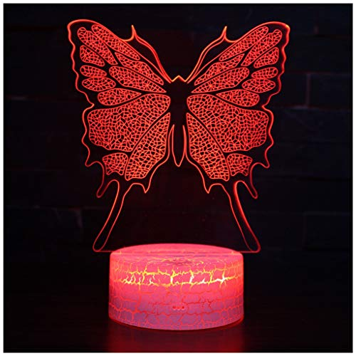 ye 3D LED Night Light - 7 Colors USB Operated Table Dimmable Night Light Touch Switch+remote control For Kids, 3D Lights Optical Illusions Desk Lamp For Room Decor (3)
