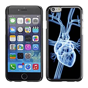 PC/Aluminum Funda Carcasa protectora para Apple Iphone 6 Heart X Ray / JUSTGO PHONE PROTECTOR