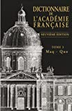 Dictionnaire de l'Académie française, tome 3 : Maq - Quo