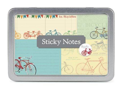 Cavallini Papers Sticky Notes, Bicycles, Set of 5