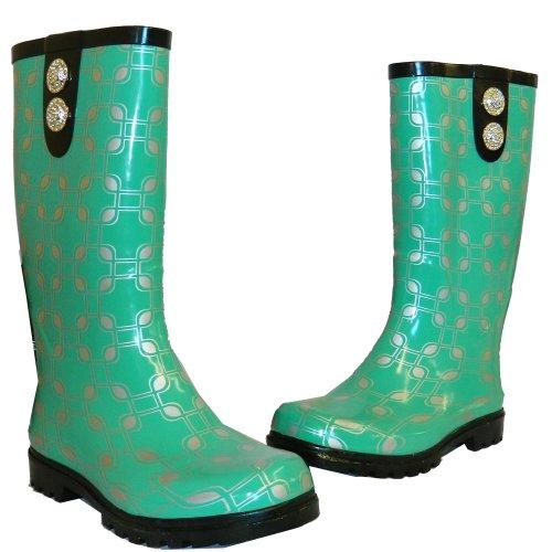 Nomad Women's Puddles Rain Boot,7 B(M) US,Green Chain.Green Chain