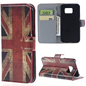 Samsung Galaxy S6 PU-leather UK ENGLAND VINTAGE phone case Flip bag Cover thematys®