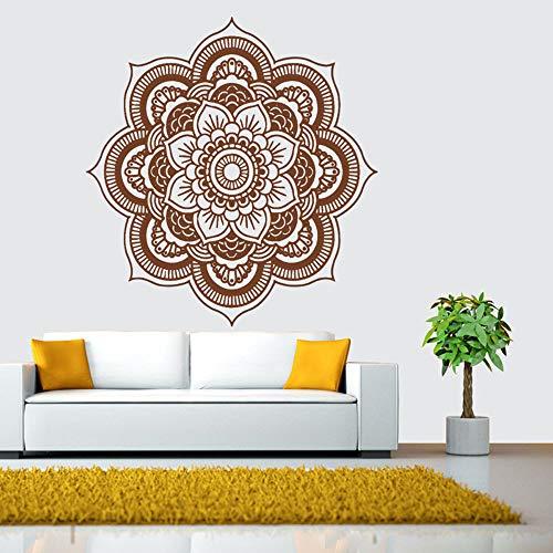 iYBUIA Indian Mandala Flower Bedroom Vinyl Wall Decal Art Stickers Mural Home