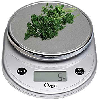 Ozeri Pronto Digital Multifunction Kitchen and Food Scale, Elegant Chrome