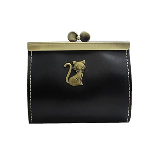 Cute Cat Is Praying Unique Wallets For Men Women Long Leather Checkbook Card Holder Purse Zipper Buckle Elegant Clutch Ladies Coin Purse