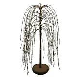CVHOMEDECO. Cream Pip Berry Weeping Willow Tree Country Vintage Decoration Art, 24-Inch