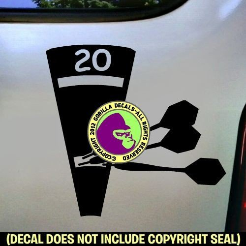 (Darts - TRIPLE 20 Vinyl Decal Sticker B)