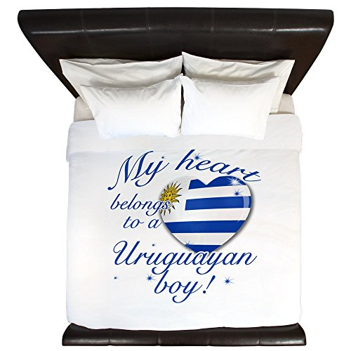 CafePress - My Heart Belongs To An Uruguayan Boy - King Duvet Cover, Printed Comforter Cover, Unique Bedding, Microfiber