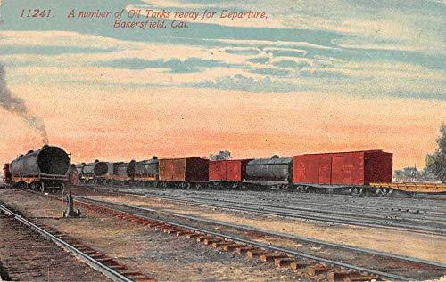 - Bakersfield California Oil Tanks Train Stock Yards Antique Postcard J80961