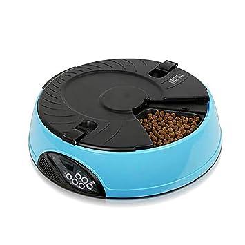 YAJAN-PetBowl Comedero Automático Dispensador de Comida para 6 Veces/día Gatos, Perros