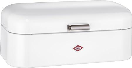 Wesco 235 201 Grandy Brotkasten weiß 22x42x17cm (L/B/H), Edelstahl
