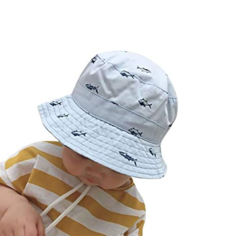 e03c78a58df01 Buy GAZEPO Baby Bucket Hat Dinosaur Shark Grid Toddler Kids Play Hats Baby  Drawstring Adjust Drawstring Online at Low Prices in India - Amazon.in