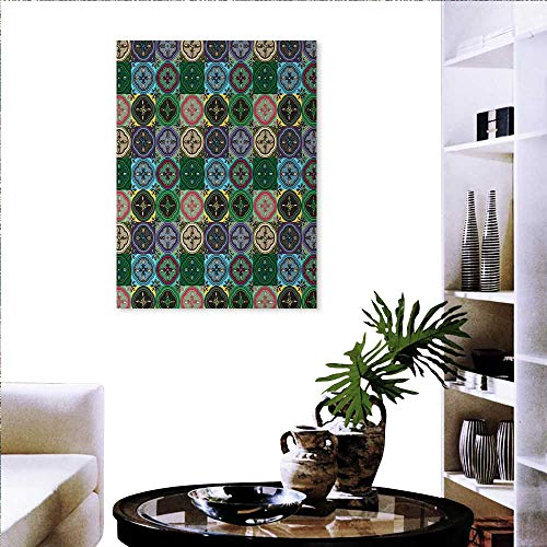 Wall Stickers Pattern Abstract Shapes Inspired Stained Glass Style Traditional Vibrant The Picture Home Decoration 20