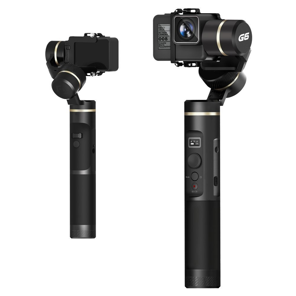 Feiyu G6 3-Axis Splash Proof Handheld Gimbal Updated Version of G5 for GoPro Hero 6/5/4/3/Session, Sony RX0, Yi Cam 4K, AEE Action Cameras of Similar Size Feiyu Tech