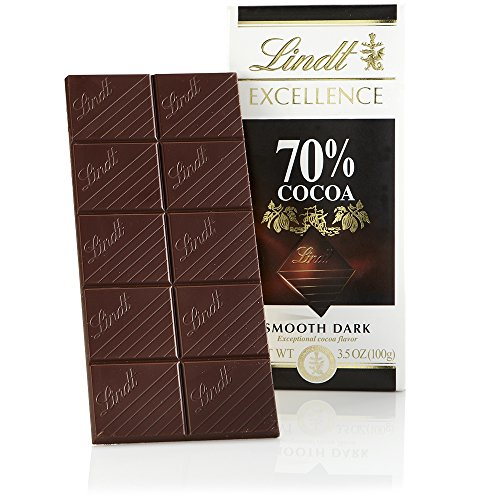 Lindt Excellence Bar, 70% Cocoa Smooth Dark Chocolate, Gluten Free, 3.5 Ounce (Pack of 12) (Lindt Chocolate)