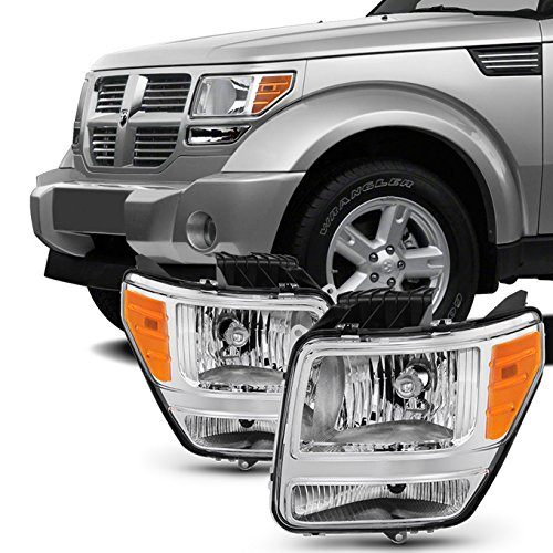 For 2007 2008 2009 2010 2011 Dodge Nitro Headlights Headlamps LH Left & RH Right Side Pair Set Assembly
