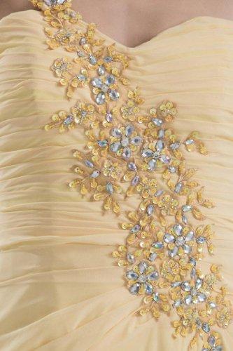 Chiffon AbschlussballKleid Herrliches Schal GEORGE BRIDE Schulter mit narzisse Ein WqSWYUw6
