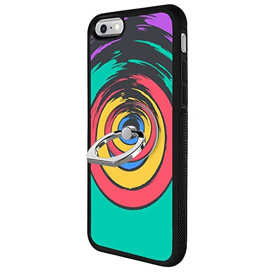 premium selection 518fd 5d760 Amazon.com: iPhone 6s 6 Rainbow Circle Case with Ring Holder Stand ...
