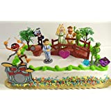 The Muppets 14 Piece Birthday Cake Topper Set Featuring Kermit the Frog, Miss Piggy, Fozzie, Gonzo, Walter, Animal and Themed Decorative Accessories - Cake Topper Includes All Items Shown
