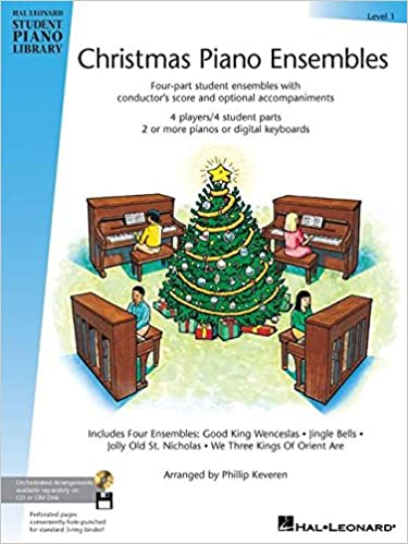 Christmas Piano.Christmas Piano Ensembles Level 1 Book Hal Leonard