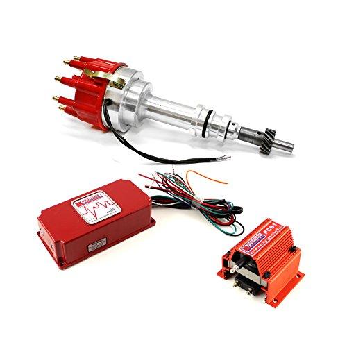 fits Ford 351W Windsor Pro Billet Distributor 6AL CDI Ignition & Coil Kit ()