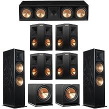 Klipsch 7.2 Black Ash System with 2 RF-7 III Floorstanding Speakers, 1 RC-64 III Center Speaker, 4 Klipsch RP-250S Surround Speakers, 2 Klipsch R-112SW Subwoofers