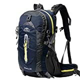 Topsky Outdoor Sports Camping Hiking Waterproof Backpack Lightweight Travel Daypacks 40L 50L Trekking Rucksack with Rain Cover (NavyⅡ, 40L) For Sale