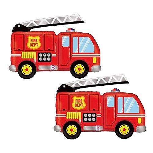 Set of 2 Fire Truck Jumbo 40