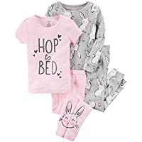 Carter's Girls' 12M-8 4 Piece Mouse Ballerina Pajama Set