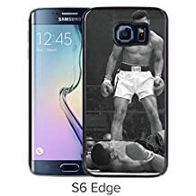 Lovely and Nice Samsung Galaxy S6 Edge Case Design with Muhammad Ali Vs Sonny Liston Black Case for Samsung Galaxy S6 Edge