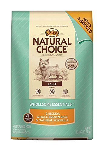 Nutro Natural Choice Chicken, Brown Rice and Oatmeal Dry Dog Food, 30-Pound Bag