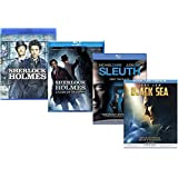 Jude Law Movie Collection - Sherlock Holmes / Sherlock Holmes A Game of Shadows / Black Sea/ Sleuth