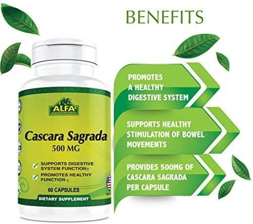 Amazon.com: Cascara Sagrada 500 mg 60 °Cápsulas – apoya la salud ...
