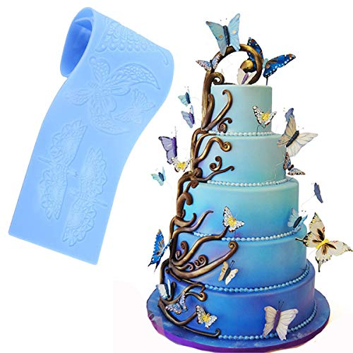 Anyana sugar edible butterfly dragonfly lace cake silicone Embossing Mat Texture fondant impression lace mat decorating mold gum paste cupcake topper tool icing candy imprint baking moulds sugarcraft