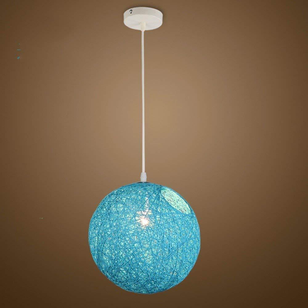 AJ Kreative Haushalt Beleuchtung Schlafzimmer Wohnzimmer Persönlichkeit Lampen und Kronleuchter Ma Ball Vogel Nest Sisal Einstellbare Diameter20 cm
