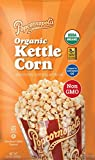 #4: Popcornopolis Organic Kettle Corn, Extra Large 24 Ounce Bag (Gluten Free, Non-GMO, Popped in Coconut Oil)