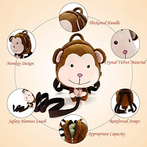DENNOV Toddler Backpack Bag, Monkey Design Clearance