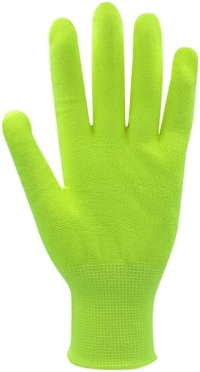 WBFN Strong and Easy Polyester Cotton Liner Protective Work Gloves Safety Gloves Color : Green, Size : S