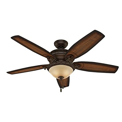 Hunter 54 brushed cocoa ceiling fan brown amazon hunter 54quot brushed cocoa ceiling fan aloadofball Image collections