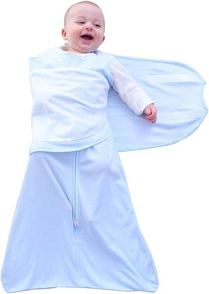 Color Azul Nube Talla:57CM 1-6 Meses Unisex MX kingdom Saco de Dormir para beb/é 100/% algod/ón de Calidad con dise/ño de alas de beb/é