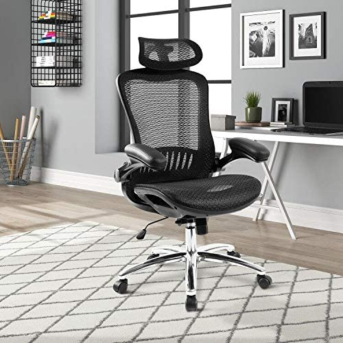 Ergonomic High Back Office Chair Lumbar Support Mesh Swivel Executive Computer Desk Chair