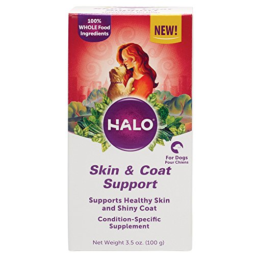 Halo Natural Supplements With Omega-3 Fatty Acid For Dogs, Skin & Coat Support, 3.5-Ounce Bottle